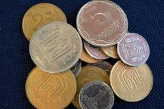 Ukrainsk kopeck - mynt av olika valörer Arkivfoton