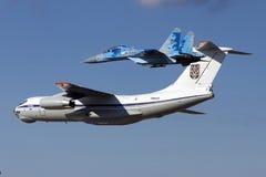 Ukrainsk landning Il-76 Royaltyfri Bild