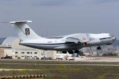 Ukrainsk nivå för last som Il-76 tar av Royaltyfria Foton