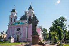 Ukrainsk ortodox kyrka i Chernivtsi, Ukraina 06 16 2017 ledare Royaltyfri Foto