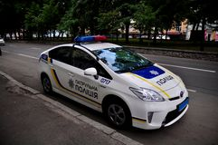 Ukrainsk polisbil Royaltyfria Bilder