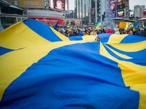 Ukrainsk protest Royaltyfri Foto