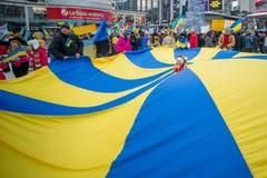Ukrainsk protest Royaltyfri Bild