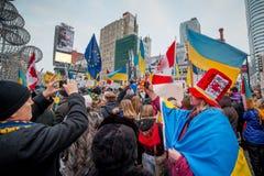 Ukrainsk protest Fotografering för Bildbyråer