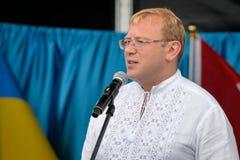 Ukrainsk självständighetsdagen i Toronto royaltyfri bild