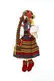 Ukrainsk traditionell docka som hänger på väggen Arkivbild