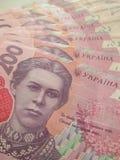 Ukrainsk valuta - hryvnia Royaltyfri Foto
