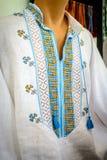 Ukrainska broderimän Nationellt ukrainskt traditionellt utsmyckat arkivbilder
