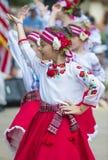 Ukrainska folk dansare Royaltyfri Bild