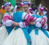 Ukrainska folk dansare Fotografering för Bildbyråer