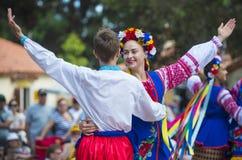 Ukrainska folk dansare Royaltyfria Foton