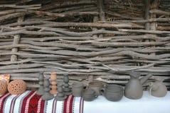 Ukrainska handgjorda hantverkprodukter. Arkivfoton