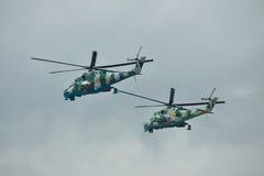 Ukrainska helikoptrar för armé Mi-24 Arkivbilder