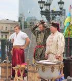 Ukrainska kosackar etappproduktion Arkivbild