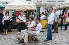 Ukrainska musiker i Poznan Royaltyfri Bild
