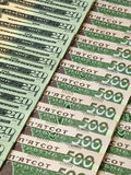 Ukrainska och amerikanska sedlar Royaltyfri Foto