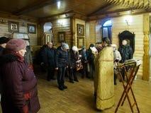 Ukrainska ortodoxa kristen firar jul Royaltyfri Foto