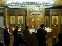 Ukrainska ortodoxa kristen firar jul Royaltyfria Foton