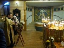 Ukrainska ortodoxa kristen firar jul Fotografering för Bildbyråer