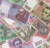 Ukrainska pengar Arkivfoto