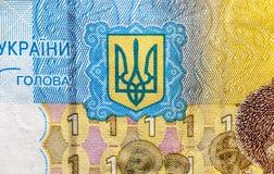 Ukrainska pengar, närbild Arkivbilder