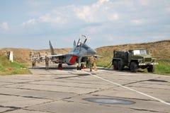 Ukrainskt flygvapen MiG-29 arkivbild