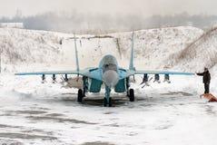 Ukrainskt flygvapen MiG-29 royaltyfri fotografi