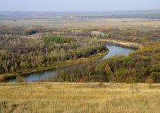 Ukrainskt landskap för nedgång Arkivfoton