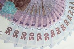 Ukrainskt pengarvärde av 50 grivnas Arkivfoton