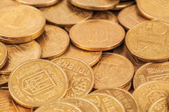 Ukranian coins, texture Royalty Free Stock Image