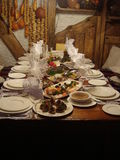 Ukranian Dinner Royalty Free Stock Images