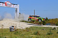 Ukranian driver Valeriy Gorban and co-driver Volodymyr Korsia stock photography