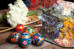 Ukranian Easter Eggs And Pallet Stock Photography