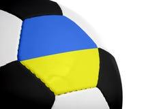 Ukranian Flag - Football Royalty Free Stock Photography