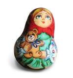 Ukranian Handpainted Doll. Handpainted Souvineer Doll from Ukraine Stock Photos