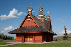 Ukranian Log Church Royalty Free Stock Photos
