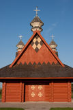 Ukranian Log Church Royalty Free Stock Images