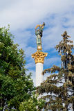 Ukranian Monument to Berehynia in Kiev Stock Photos