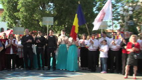 The Ukranian participants Choral Festival in Pomorie in Bulgaria stock video
