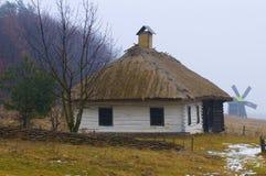 Ukranian village. Near Kiev in winter time Royalty Free Stock Image