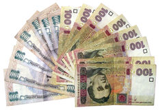 ukrinian的货币 库存图片