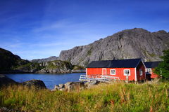 ukryte domy czerwone Fotografia Royalty Free
