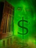 ukrywa pieniądze Zdjęcie Royalty Free