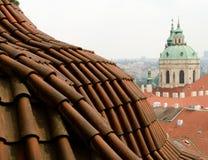 Łuku Dachówkowy dach blisko St Nicholas katedry Fotografia Royalty Free