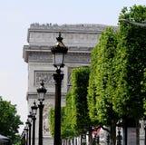 łuku de Paris triomphe Obrazy Royalty Free