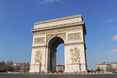 łuku de Paris triomphe Zdjęcia Royalty Free