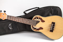 Ukulele with Bag Royalty Free Stock Photography