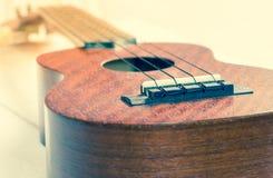 Ukulele, chitarra hawaiana Fotografia Stock