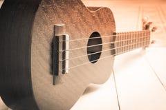Ukulele, chitarra hawaiana Immagini Stock Libere da Diritti