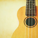 Ukulele with copyspace and retro effect. Ukulele with copyspace and retro filter effect Stock Photos